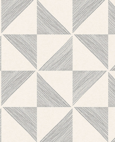 Mont Cream Geometric Wallpaper