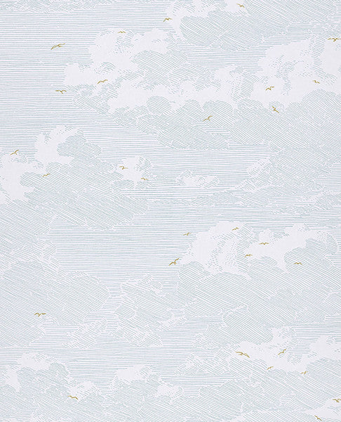 Palila Light Blue Cloud Wallpaper