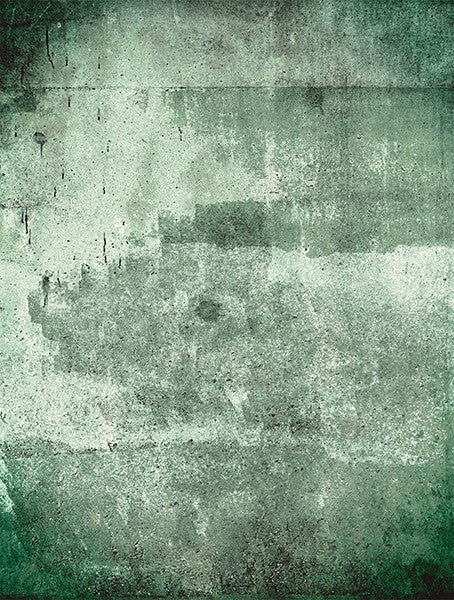 Green Weathered Wall Mural