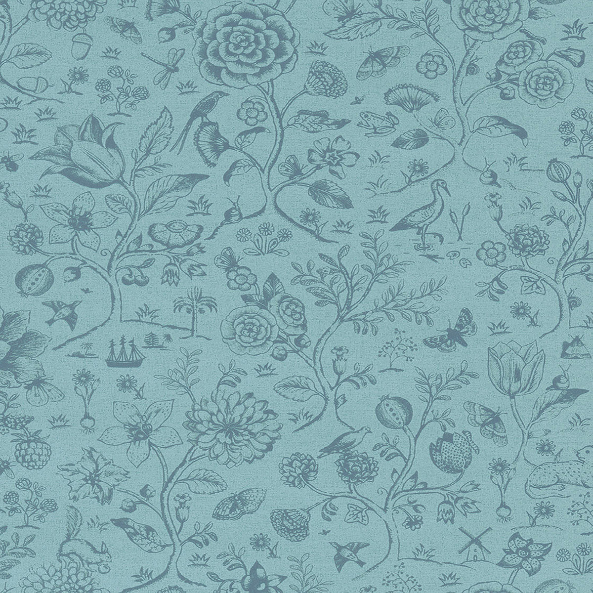 Ambroos Blue Woodland Wallpaper