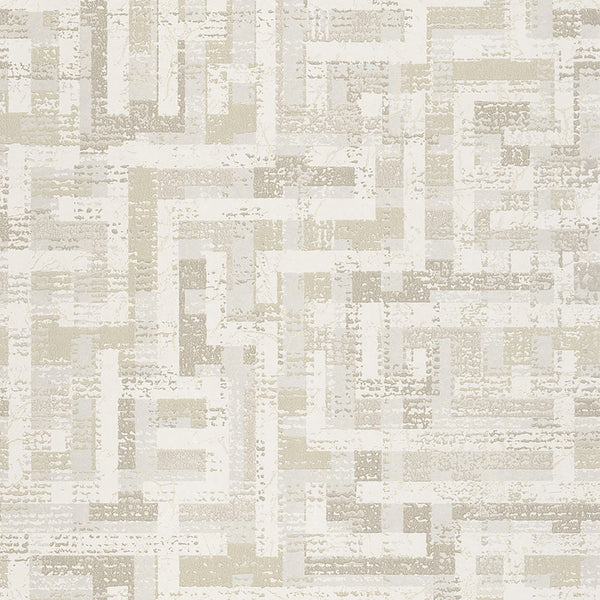Tebessa Champagne Geometric Wallpaper