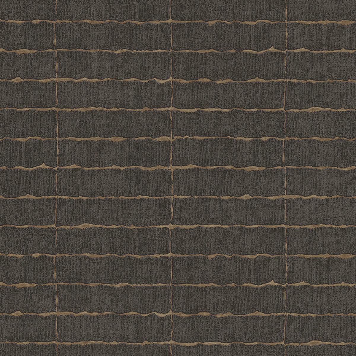 Batna Dark Brown Brick Wallpaper