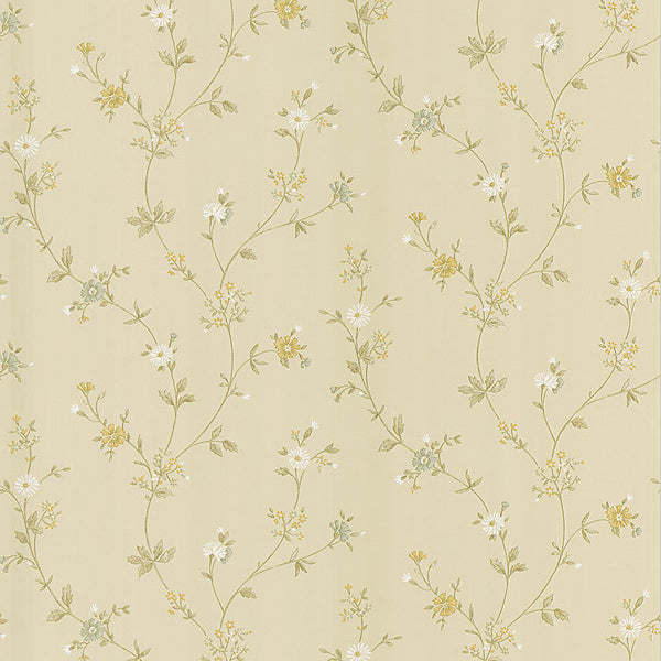 Daisy Beige Floral Trail Wallpaper