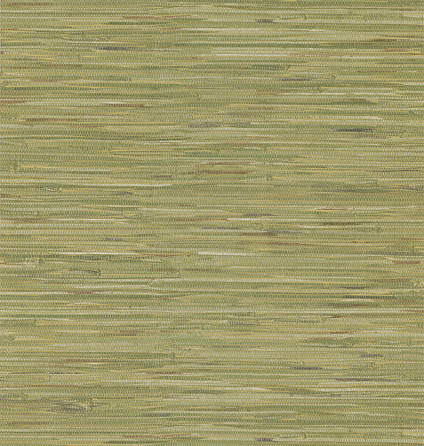 Madagascar Olive Faux Grasscloth Wallpaper