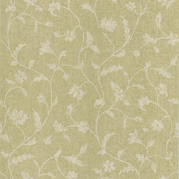 Batik Beige Batik Fabric Wallpaper