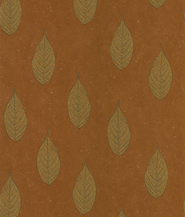 Madhya Orange Leaves Wallpaper