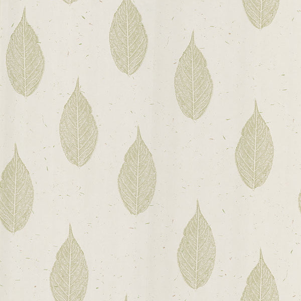 Madhya Cream Leaves Wallpaper