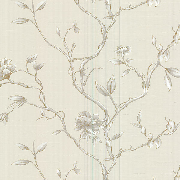 Kousa Cream Floral Trail Wallpaper
