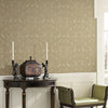 Hasib Beige Ogee Damask Wallpaper