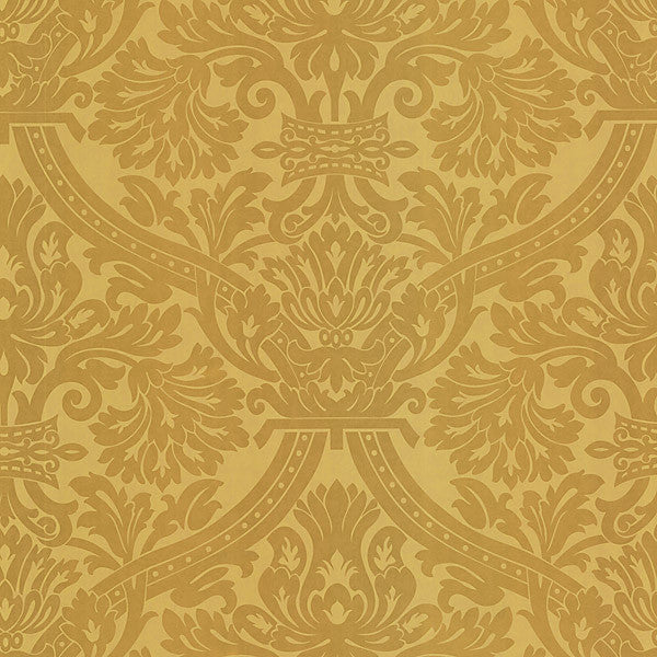 Hasib Gold Ogee Damask Wallpaper