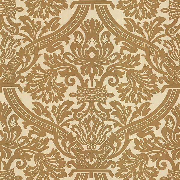 Hasib Pearl Ogee Damask Wallpaper