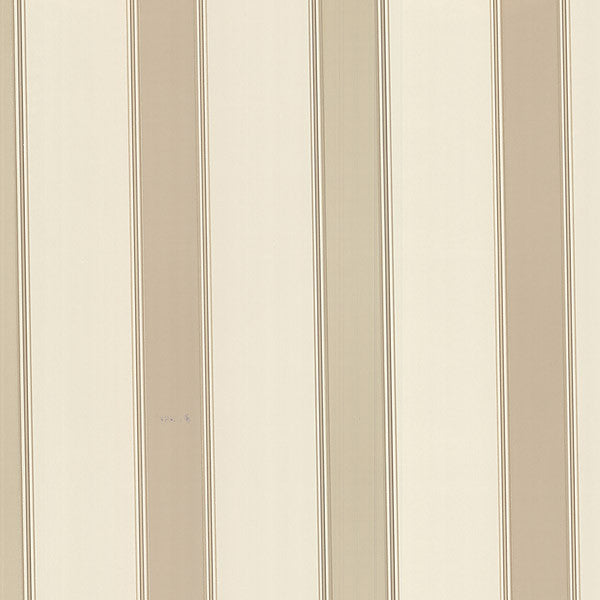 Claude Taupe Stripe Wallpaper