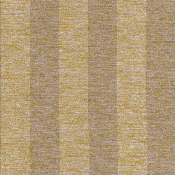 Bark Stripe Brass Textured Stripe Wallpaper