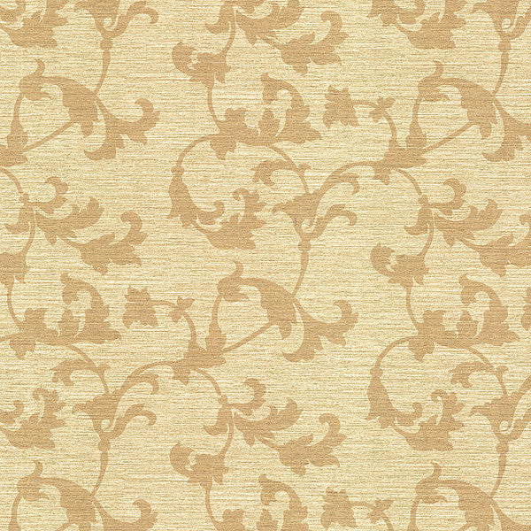 Rufina Beige Scroll Silhouette Wallpaper