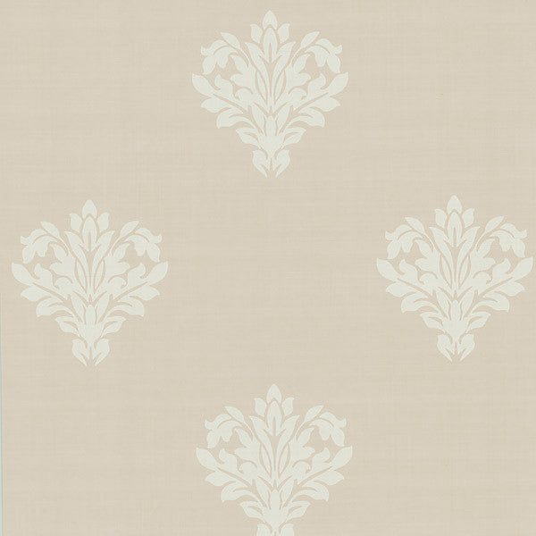 Astoria Cream Leafy Damask Wallpaper