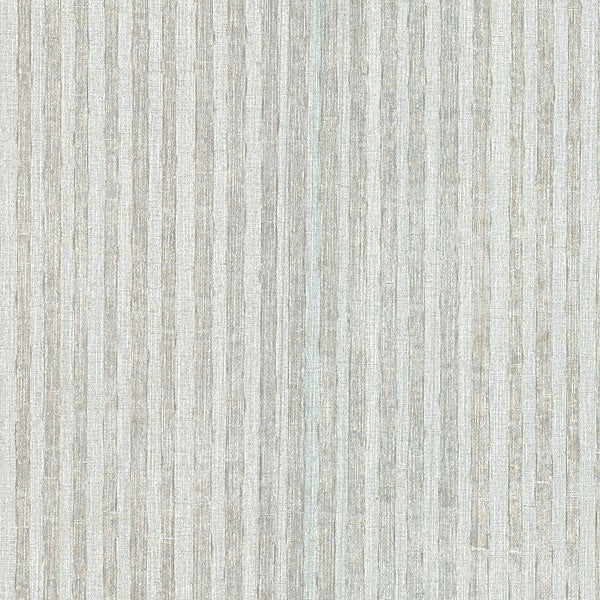 Ribbon Silver Fabric Stripe Wallpaper