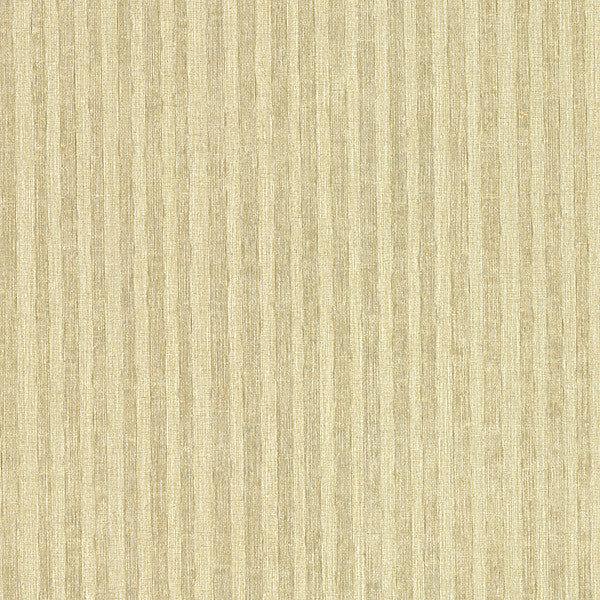 Ribbon Gold Fabric Stripe Wallpaper