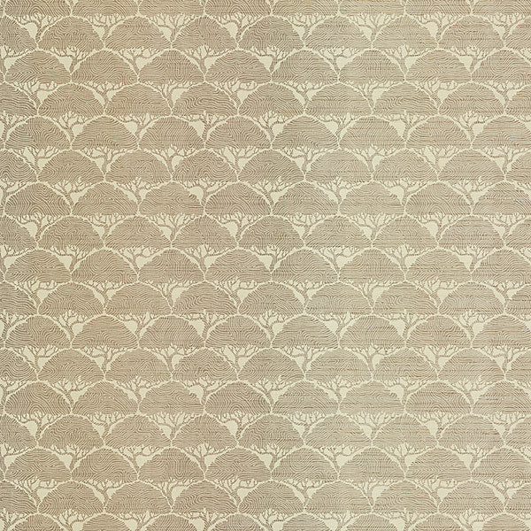 Arboretum Taupe Geometric Trees Wallpaper