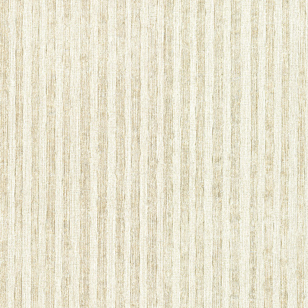 Ribbon Platinum Fabric Stripe Wallpaper
