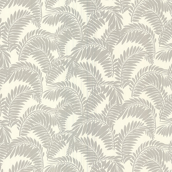 Fronde Silver Leaves Wallpaper