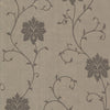 Dahli Brown Floral Trail Wallpaper