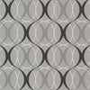 Circulate Silver Retro Orb Wallpaper
