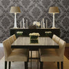 Sebastion Grey Damask Wallpaper