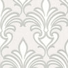 Arras Grey New Damask Wallpaper