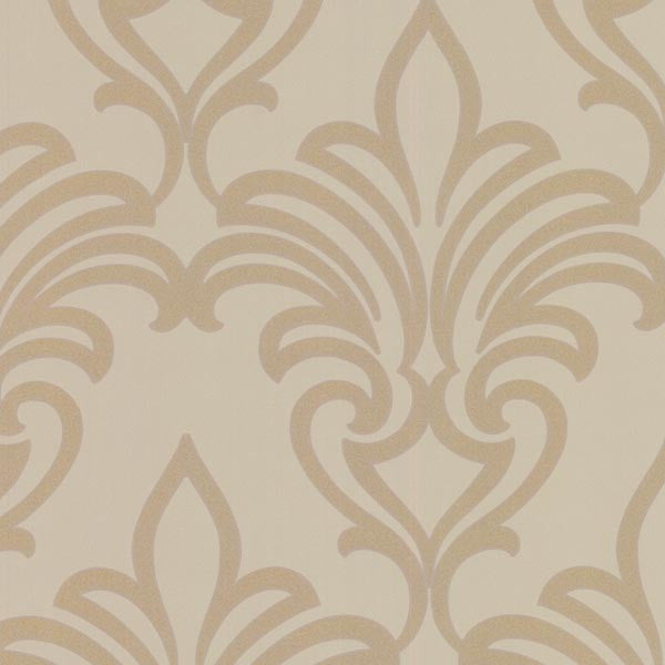 Arras Gold New Damask Wallpaper