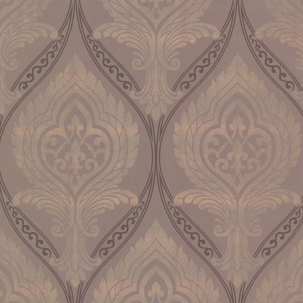 Acasta Taupe Damask Wallpaper