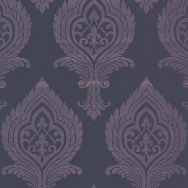 Acasta Purple Damask Wallpaper