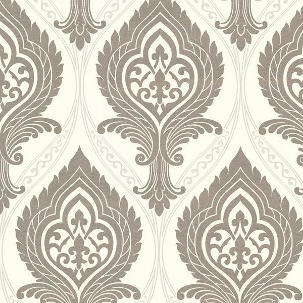 Acasta Cream Damask Wallpaper