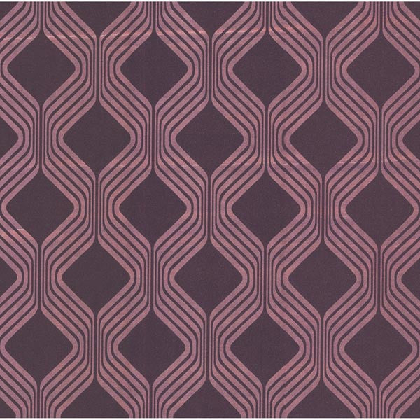 Alcaston Pink Geometric Ogee Wallpaper