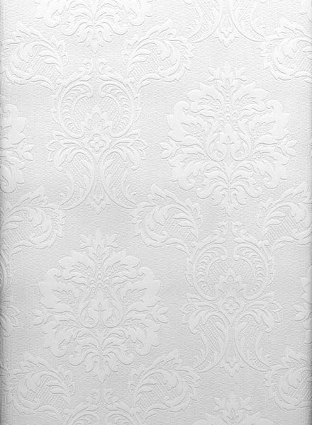 Damascene Regal Print Paintable Wallpaper