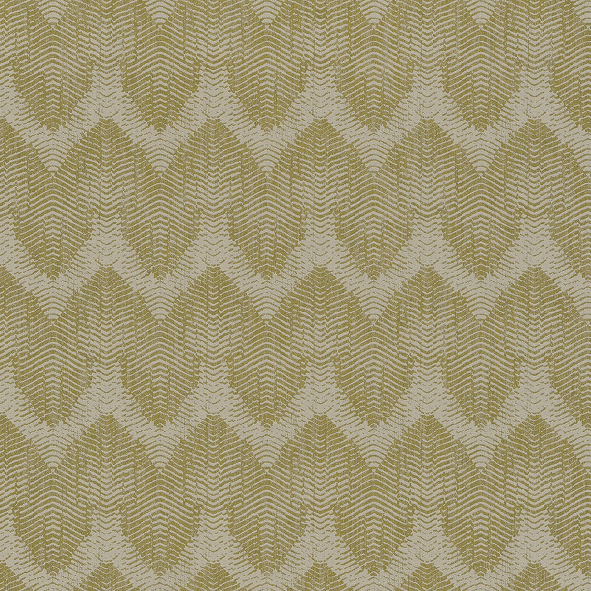 Cream On Green Gold Ground, Metallic Texural Flamestitch. 52098 73