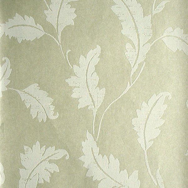 Amore Champagne Leaf Trail Wallpaper