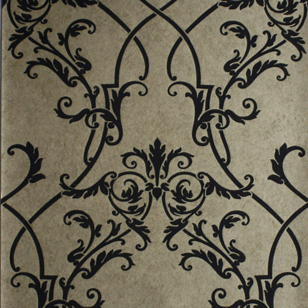 Gisella Taupe Noveau Damask Wallpaper