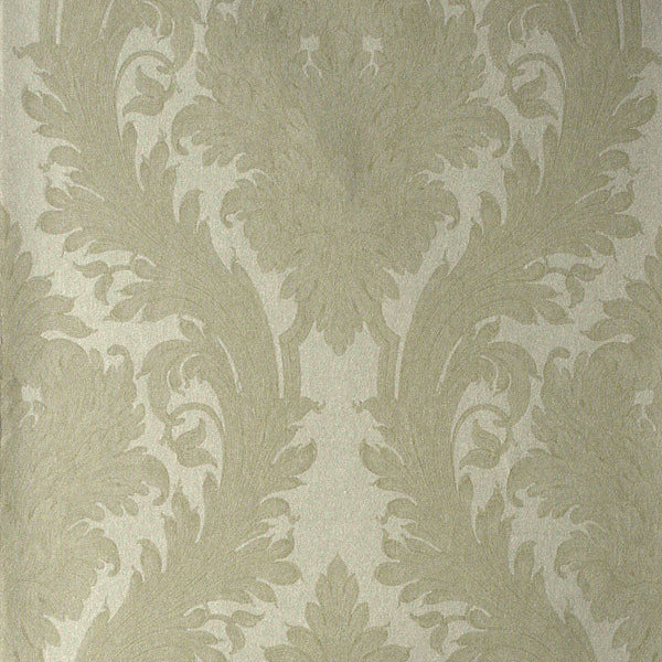 Vincenzo Pearl Linen Damask Wallpaper