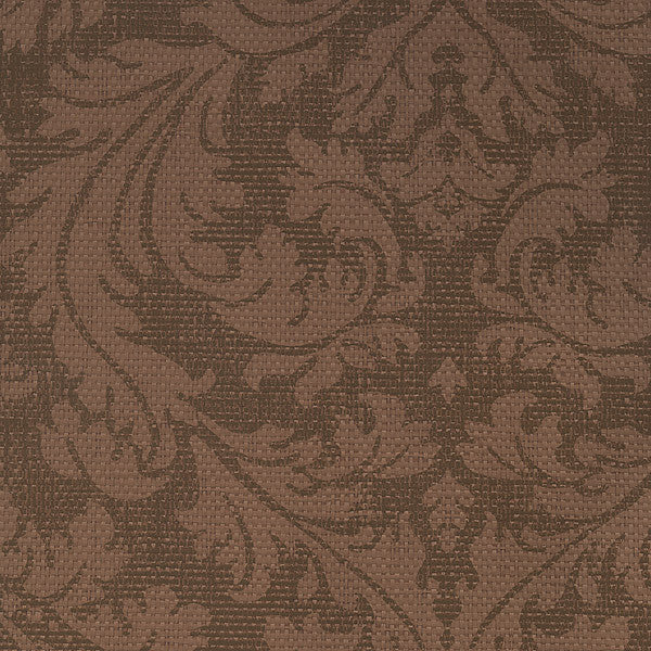 Bergamo Brown Damask Texture Wallpaper