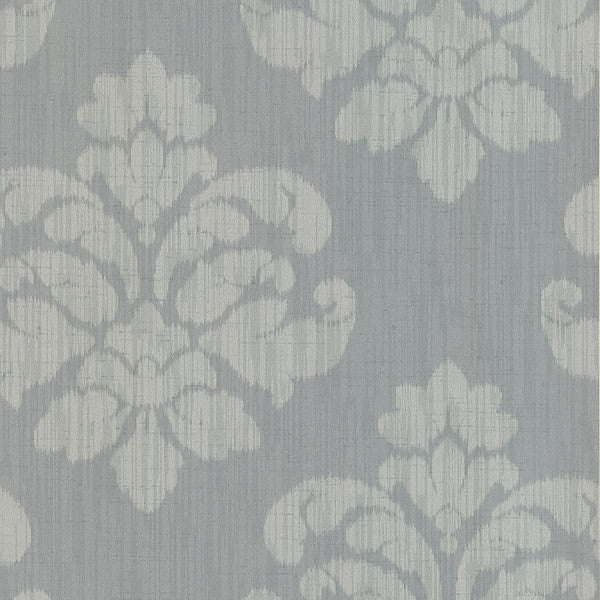 Mallory Grey Ikat Medallion Wallpaper