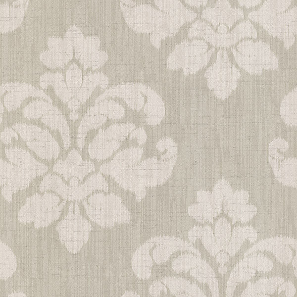 Mallory Beige Ikat Medallion Wallpaper