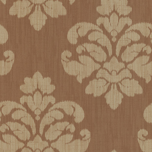 Mallory Tawny Ikat Medallion Wallpaper