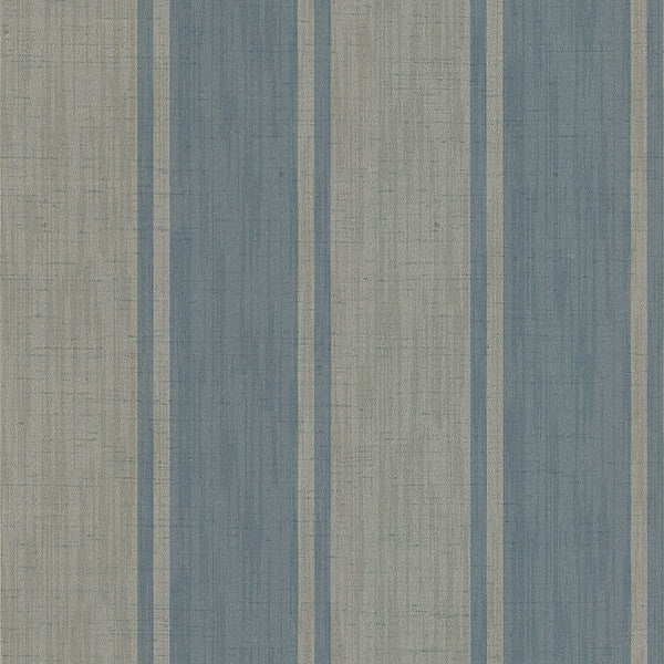 Mandalay Aqua Ikat Stripe Wallpaper