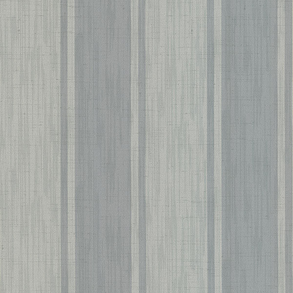 Mandalay Grey Ikat Stripe Wallpaper