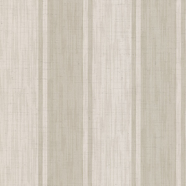 Mandalay Beige Ikat Stripe Wallpaper