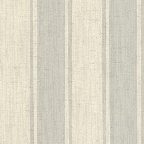 Mandalay Light Grey Ikat Stripe Wallpaper