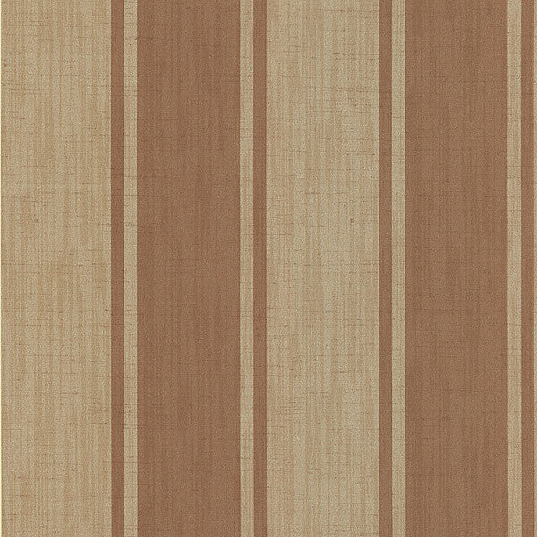 Mandalay Tawny Ikat Stripe Wallpaper