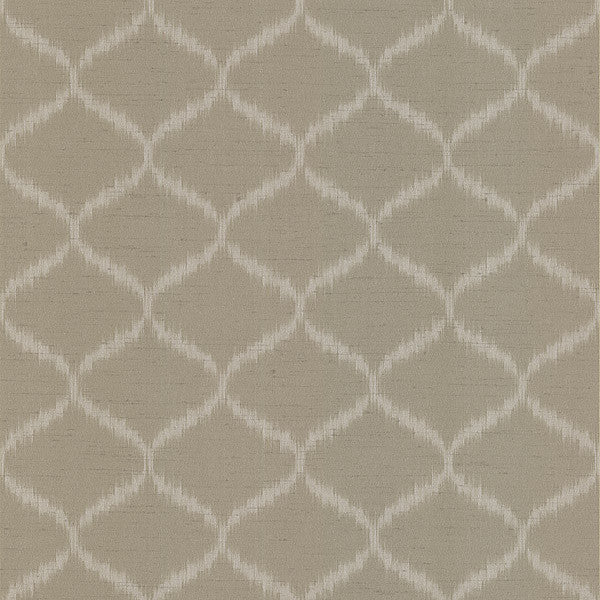 Abal Taupe Ogee Wallpaper