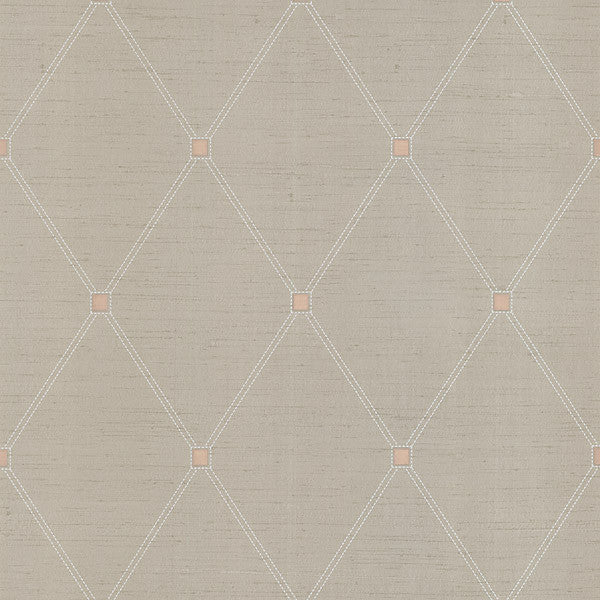 Dempsey Taupe Diamond Wallpaper