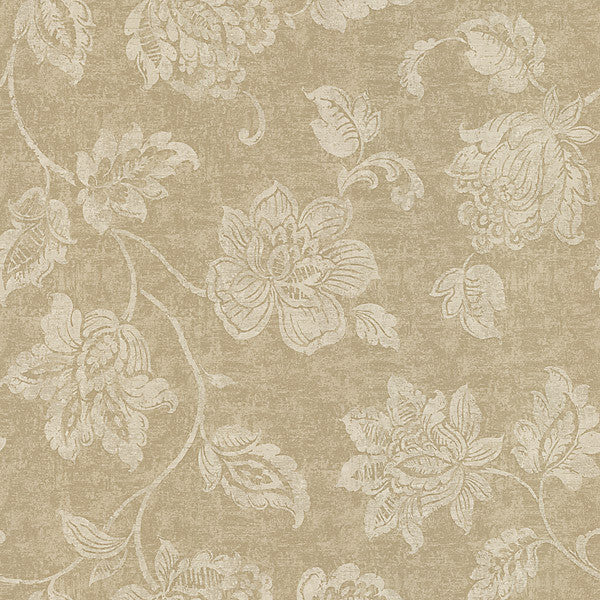 Sorrento Beige Jacobean Wallpaper